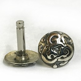 316LVM Steel Plug with Sterling Silver Stud - Contemporary Tribal 3