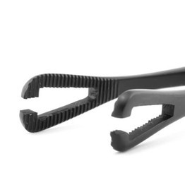 Black Oxide Coated Slotted Mini Pennington Forceps