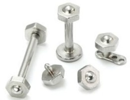 Bolt Top for Internally Threaded Jewelry