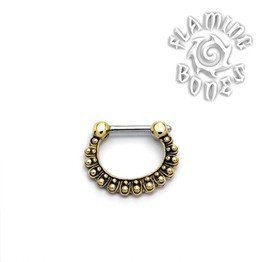 Brass Septum Klikr with Surgical Steel Post - Radiant