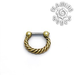 Brass Septum Klikr with Surgical Steel Post - Tordu