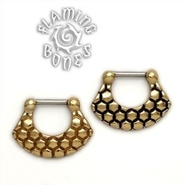 Brass Septum Klikr with Surgical Steel Post - Vertex