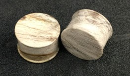 Classic Plugs in Javanese Fossilized Wood - Style 2C