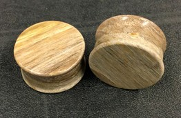 Classic Plugs in Javanese Fossilized Wood - Style 2A