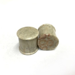 "Classic Plugs in ""Whiff"" Grey Fossilized Coral"