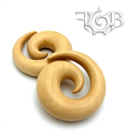 Classic Spirals in Javanese Coffee Wood