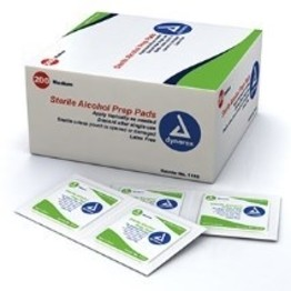 Dynarex Alcohol Prep Pads - Box of 200