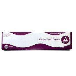 "Dynarex Plastic Cord Covers with Dispenser - 24"" x 2"" Strips"