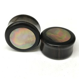 Ebony Plugs with Ornamental Mother of Pearl Inlay