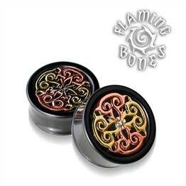 Flora Mandala Plug in Black Dogwood with Mixed Metals