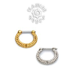 Gold Plated Septum Klikr with Surgical Steel Post - Catena