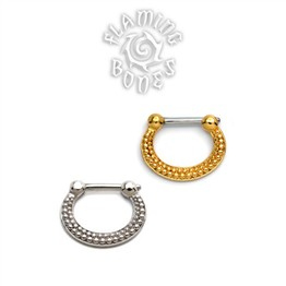 Gold Plated Sterling Silver Septum Klikr with Surgical Steel Post - De Luz