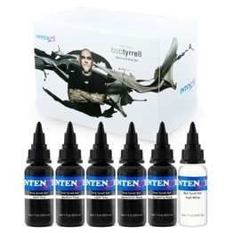 Intenze Tattoo Ink - Bob Tyrrell Advanced Black and Grey Tattoo Ink Formula Set