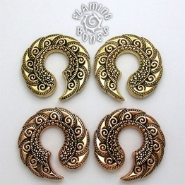 "5/8"" Jayavar Ear Weights in Brass or Bronze"
