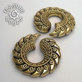 "1/2"" Jayavar Ear Weights in Brass"