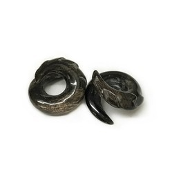 Lightning Loops in Black Water Buffalo Horn