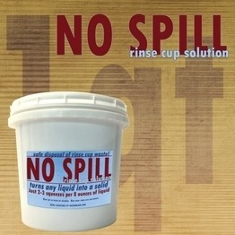 No Spill - 1qt. Rinse Cup Solution - Liquid Solidifier