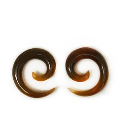 6g Small Long Spirals in Red Water Buffalo Horn