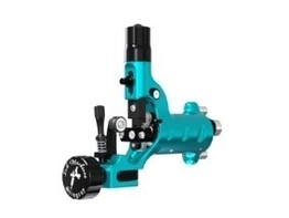 Stingray X2 Rotary Tattoo Machine by Ink Machines in Cyanide Cyan
