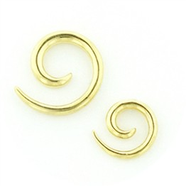 Tribal Spiral in Gold Plated Sterling Silver