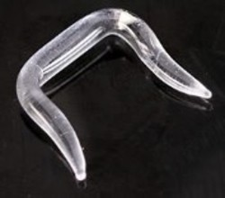 18g to 8g - Clear Glass Septum Retainer