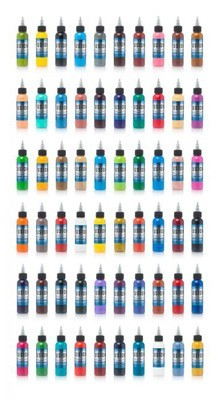 Tattoo Ink Colors >> 60 Color Full Set Fusion Tattoo Ink