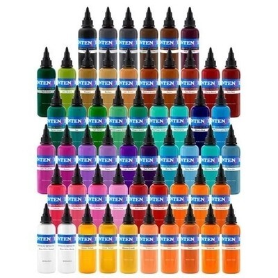 Tattoo Supplies > 54 Color Set - Intenze Tattoo Inks