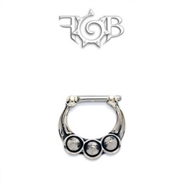 Sterling Silver Septum Klikr with Spike / Cones and Surgical Steel Post