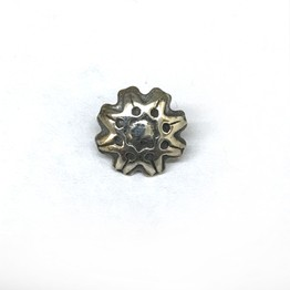 "New Rosette - Internally Threaded ""Hand Pierced"" Sterling Silver Series Threaded Ends"